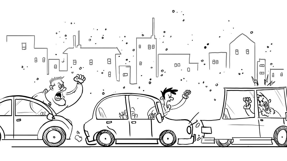 Angry traffic Jam